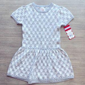 White & Silver Star Sweater Dress
